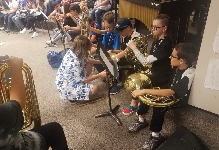 Band Students Mentor Middle School Students