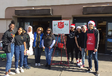 Key Club Volunteers for Salvation Army