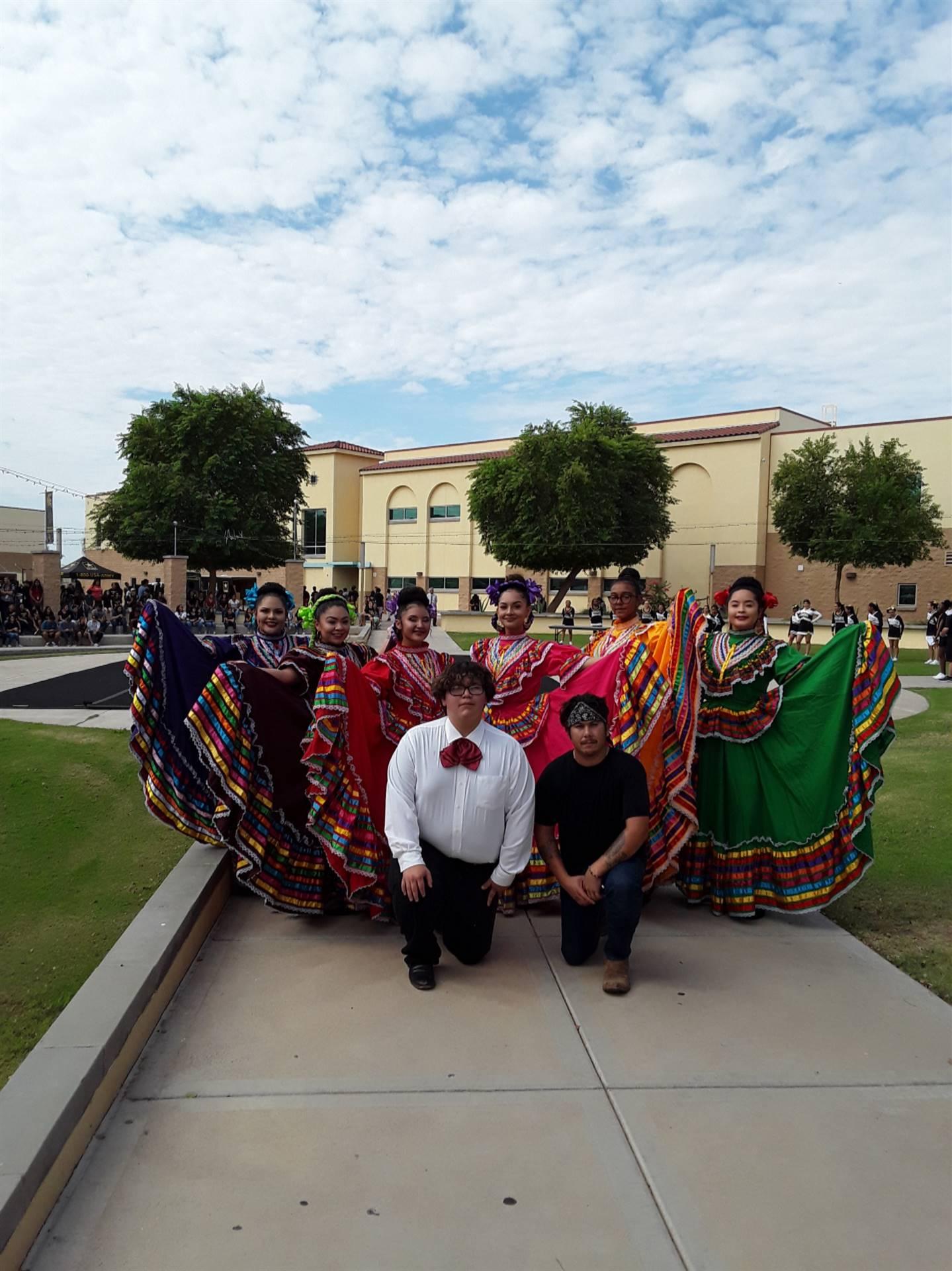 AP Spanish Club Folklorico Dancers 20191115