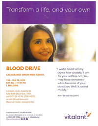 Blood drive 02/12/2019