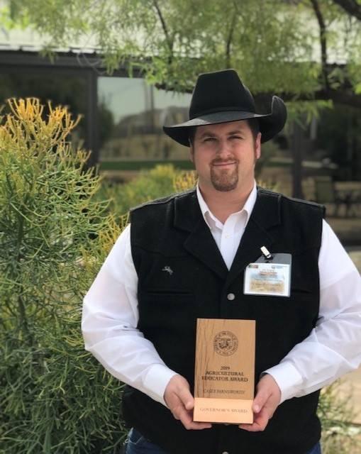 CTE Teacher Mr. Casey Farnsworth Governor's Award 20191203