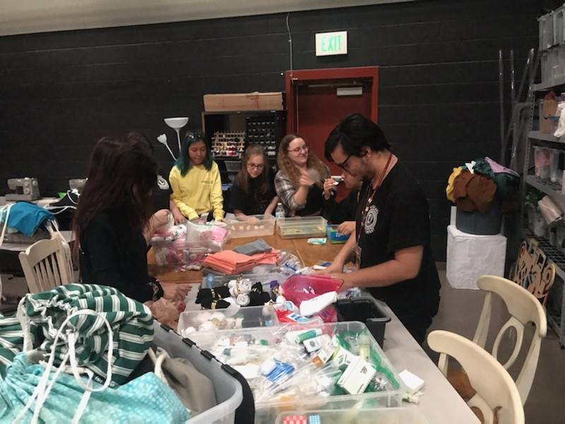 SkillsUSA & Thespians Bags For Homeless (2)